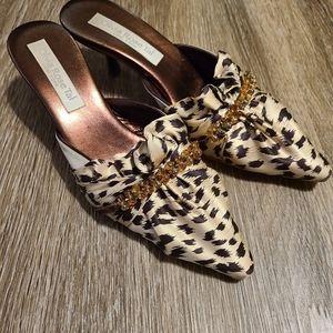 Olivia Rose Tal Vintage Beaded Brown Tan Heels
